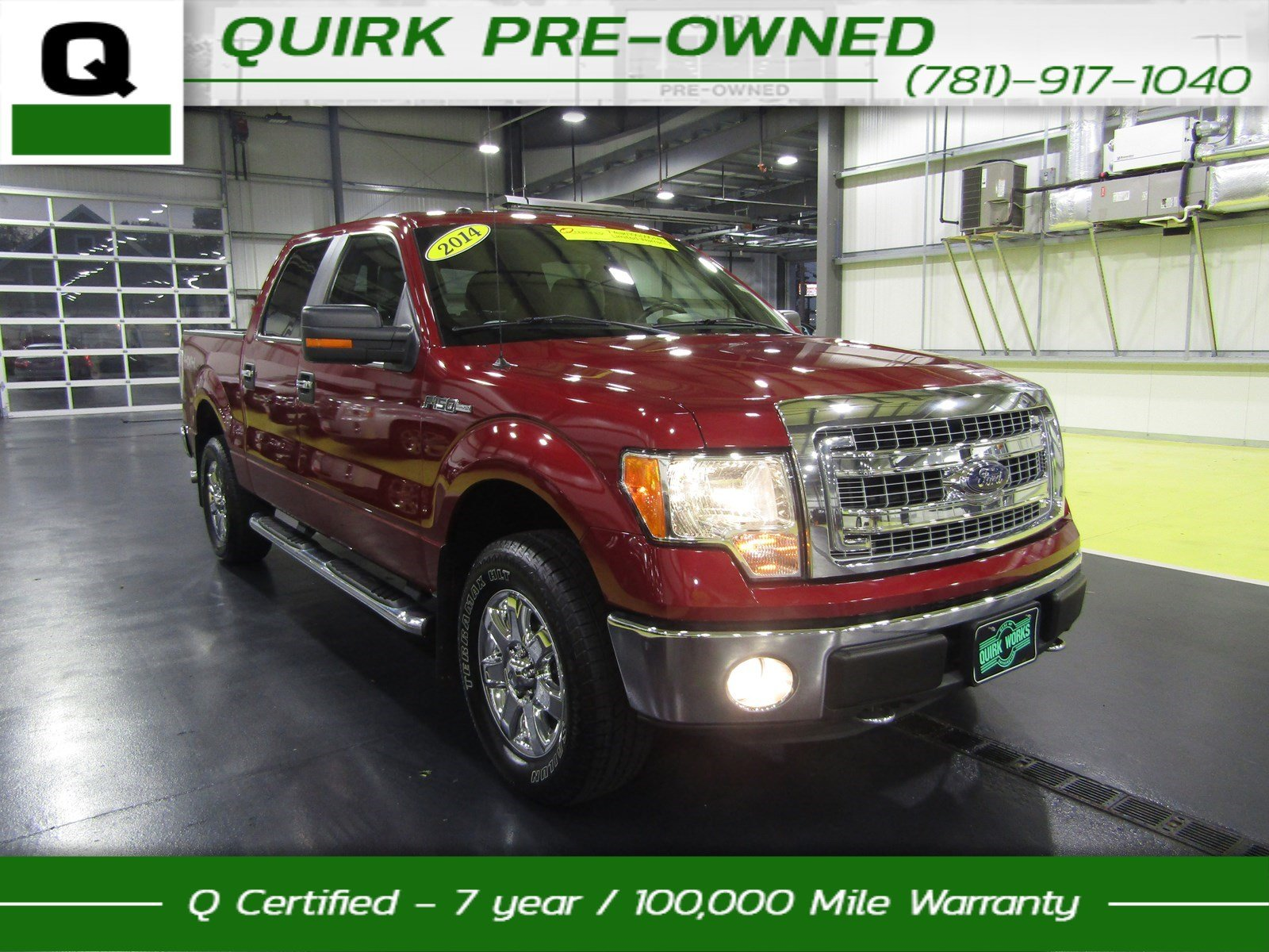 certified pre owned 2014 ford f 150 xlt crew cab pickup in braintree p19933 quirk pre owned ma. Black Bedroom Furniture Sets. Home Design Ideas